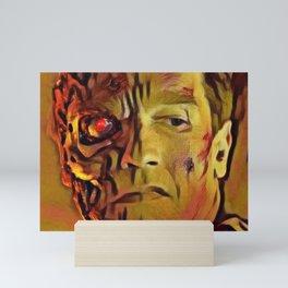 Terminator Artistic Illustration Molten Metal Style Mini Art Print