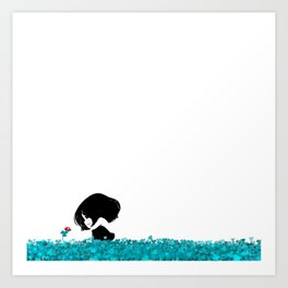 Clover and Coccinelle Art Print