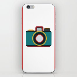 retro camera iPhone Skin