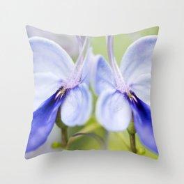 Blue Glory Bower Throw Pillow
