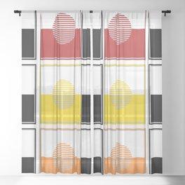 Horizons Geometric Design 15 Sheer Curtain