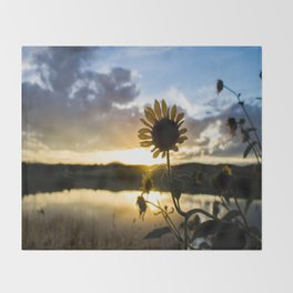 Sunflower Sunset Throw Blanket