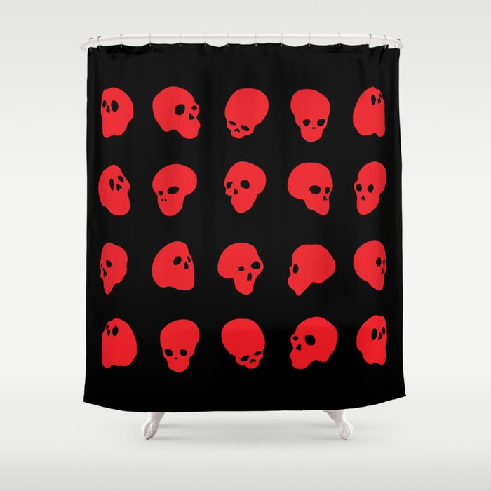 Redhead Red On Black Shower Curtain By Gray79 Society6