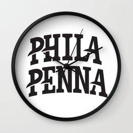PHILA/PENNA Wall Clock