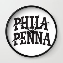 PHILA/PENNA Wall Clock