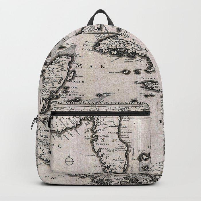 Vintage Americas Map Backpack