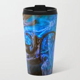 fluid blue and black Travel Mug