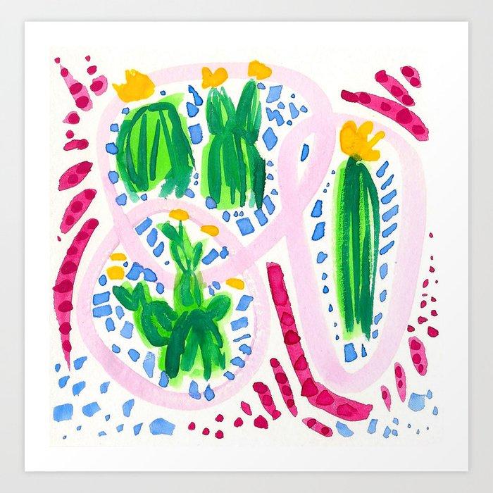 Flirty Girls Art Print