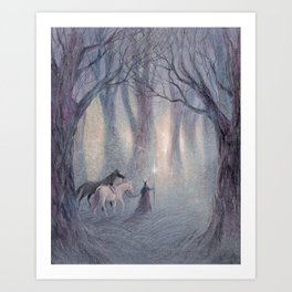 The Lights of the Woods Art Print