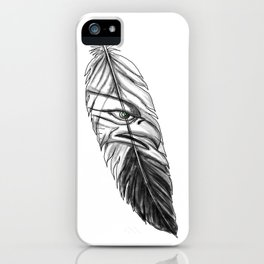 Sea Eagle Feather Tattoo iPhone Case
