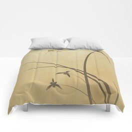 Orchid and Dragonfly Comforters