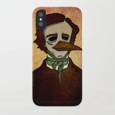 Prophets of Fiction - Edgar Allan Poe /The Raven iPhone X Slim Case