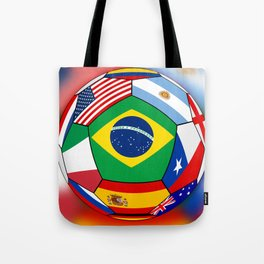 Ball With Various Flags Tote Bag