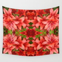 """""""A Gathering of Lilies"""" Remix - 5 (4-1) [D4471~15] Wall Tapestry"""