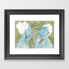 girls with silver jewelry / palmiye II Framed Art Print