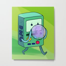 BMO and Bubble Metal Print