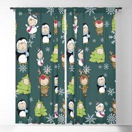 Children Christmas Costumes Pattern 9 Blackout Curtain