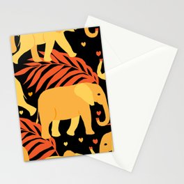 Seamless pattern with wild animals in geometric style Stationery Cards