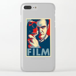 """Quentin Tarantino """"Film"""" Poster Clear iPhone Case"""
