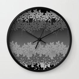 Hombre Sprigs Black Grey Wall Clock
