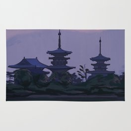 Yakushiji at Sunset Rug
