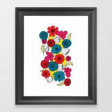 Scandinavian Flowers Framed Art Print