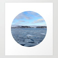 Telescope 9 ice floe Art Print