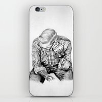 tom selleck iPhone & iPod Skins featuring tom by Anna Gibson