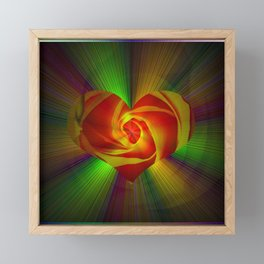 Abstract in perfection - Rose Framed Mini Art Print