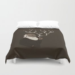 Darwin ponders evolution Duvet Cover