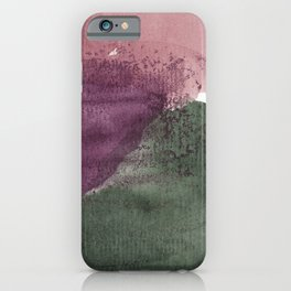 organic shapes iPhone Case