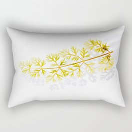 Minimalist Evergreen Branch Floating On Clear Water Rectangular Pillow