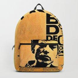 Vintage 1964 Bob Dylan at Wilson High School Poster Backpack