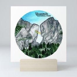 Yosemite National Park Watercolor Mini Art Print