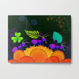Delivery Ants Metal Print