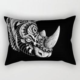 Rhino Ornate Rectangular Pillow