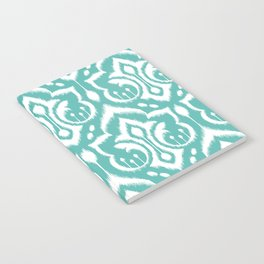 Ikat Damask Aqua Notebook