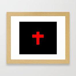 Christian Cross 12- red Framed Art Print