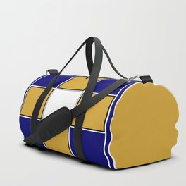TEAM COLORS 3..... Navy , gold and white Duffle Bag