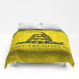 Gadsden Flag, Don't Tread On Me in Vintage Grunge Comforters