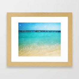 Blue Curacao Framed Art Print