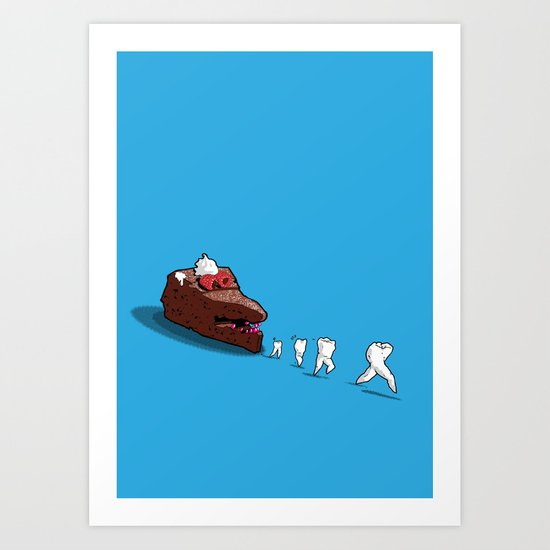 Floss away! Art Print