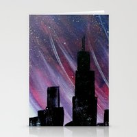 chicago Stationery Cards featuring Chicago by Tesseract