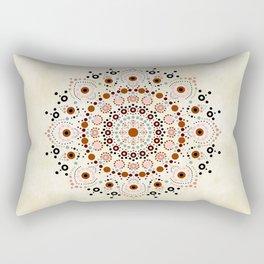 Rosy Dot Mandala  Rectangular Pillow