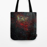 geology Tote Bags featuring volcano beautiful nature by Alexandr-Az