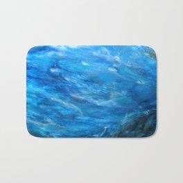 O' deep blue sea water painting Bath Mat