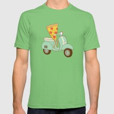 pizza delivery Grass Mens Fitted Tee SMALL