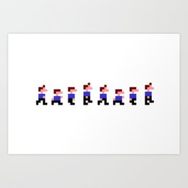 Retro Game Walk Nursery Wall Art Art Print