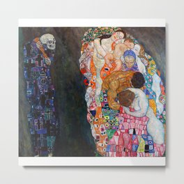 Death and Life by Gustav Klimt Metal Print