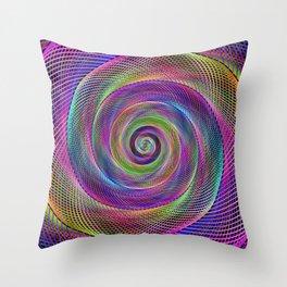 Spiral magic Throw Pillow